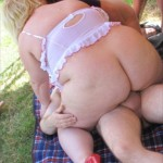 Garden orgy with Lexi and her friends