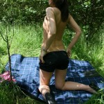 Stripping & fucking outdoors